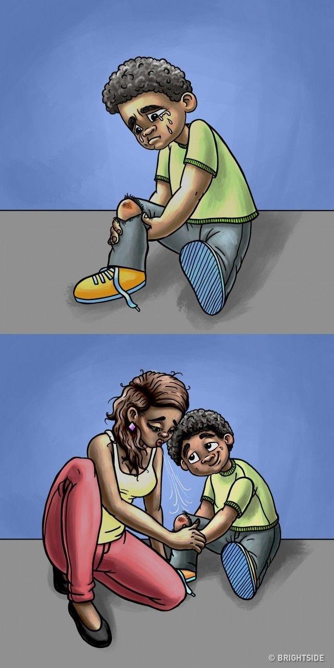 Ibu bisa menjadi dokter sekaligus, menenangkanmu dalam pangkuan dan akan berkata semua akan baik-baik saja.