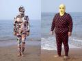 Gaya Bikini Unik Warga Cina Ketika Liburan di Pantai