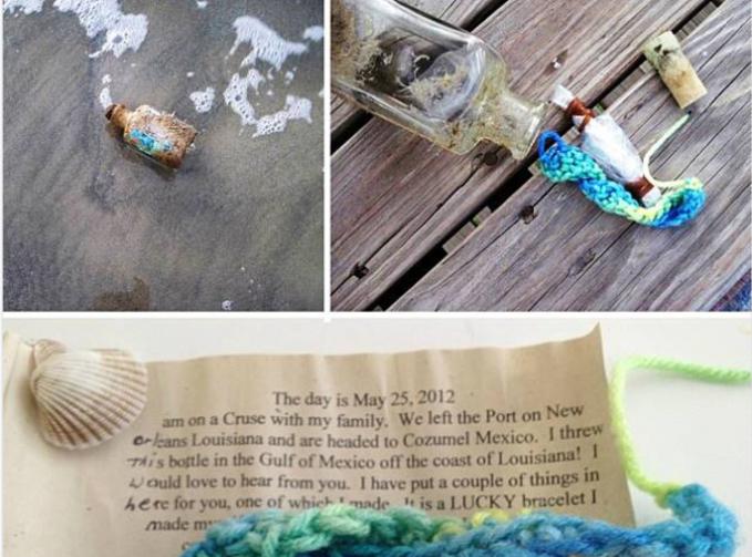 Bukan hanya di legenda saja, ternyata surat dalam botol juga sering ditemukan di pantai.