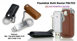 WOW Keren!! Jual Usb Kulit Promosi - Flashdisk Kulit Rantai FDLT03