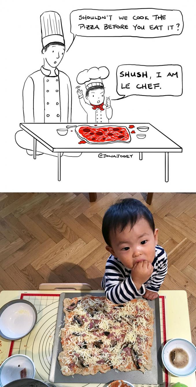 Saat ibu nggak ada di rumah, inilah saatnya kamu menjadi kepala koki bersama si kecil.