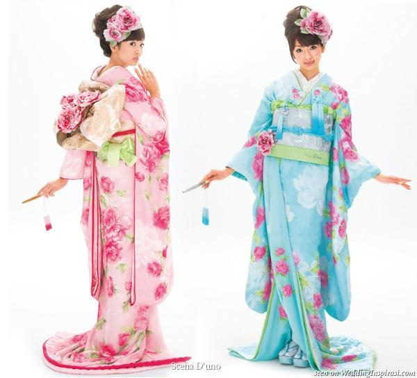 Kimono - Jepang Pakaian ini sangat terkenal di dunia, bahkan ada juga pakaian mirip kimono tapi lebih simpel yang diberi nama yukata.