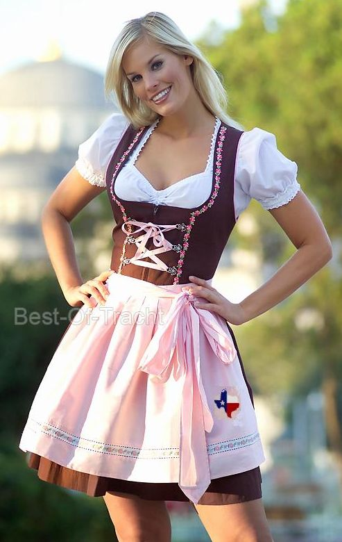 Dirndl - Jerman Awalnya pakaian ini merupakan pakaian para pelayan di Austria.