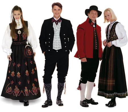 Bunad - Norwegia Kita bisa melihat pakaian ini pada musim pernikahan, karena pakaian tradisional ini hanya digunakan pada acara - acara khusus saja.