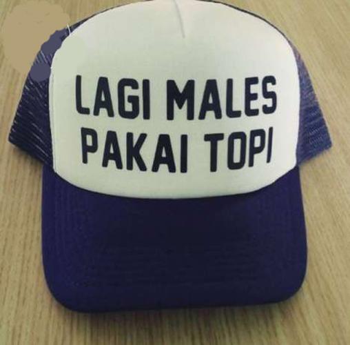 Lah, kalau ini bukan topi berarti apaan dong?. Peci, atau penutup kepala lainnya?.