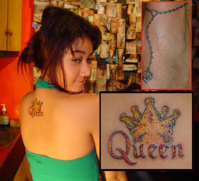 Ratu Felisha Wanita ini mengaku hanya mempunyai 3 tatto, yang pertama bergabar mahkota yang ada dipunggungnya, kedua rantai di pergelangan kaki, dan ketiga entah gambar apa yang jelas berada di bagian tubuh yang terembunyi dan hanya dia yang bisa menikmati gambarnya.