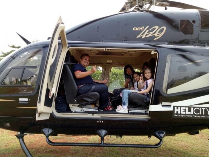 Helicity Tahun lalu PT Whitesky Aviation menawarkan transportasi Helicopter dengan tarif 14 juta per helicopter untuk rute Jakarta - Bandung