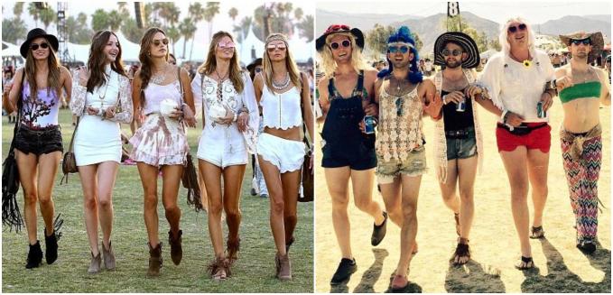 Gaya girl squad dengan foto lagi jalan ini juga ditiru cowok ini dengan pakaian yang bikin ketawa.