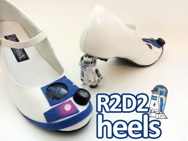 Pecinta Star Wars juga ada lho pernak-pernik sepatu keren bertema R2D2 yang oke punya.