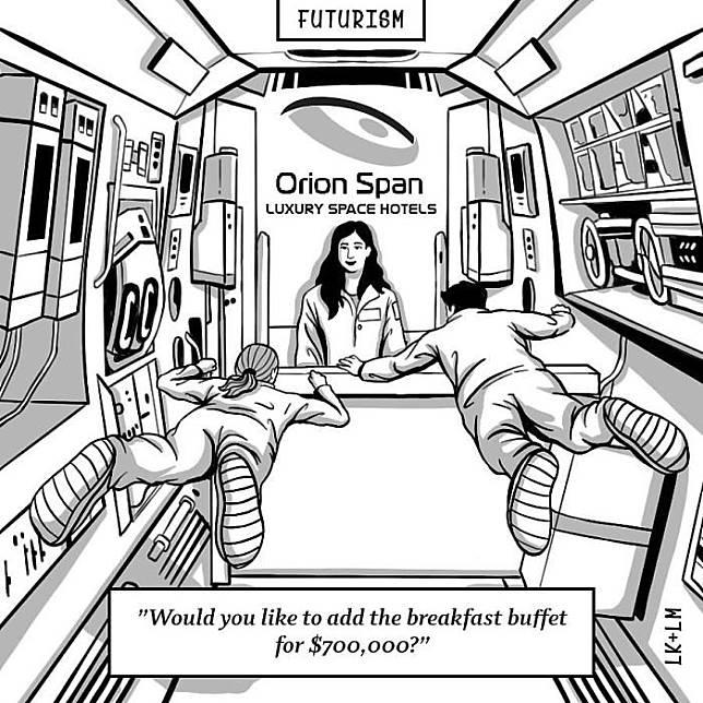 Akan ada hotel di luar angkasa.
