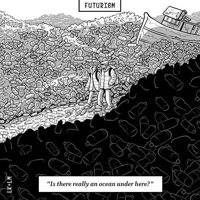 Yang jelas, dunia akan dipenuhi dengan sampah yang menggunung.hiii