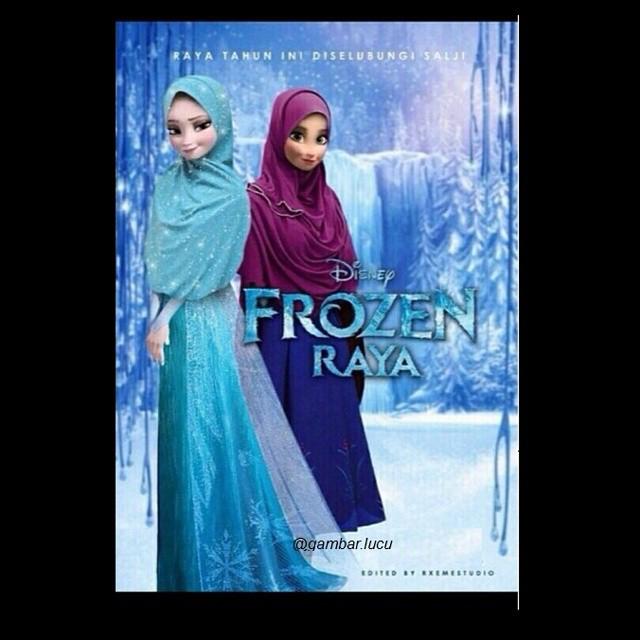 Elsa pun di bulan Ramadhan tampil berhijab lho sob.