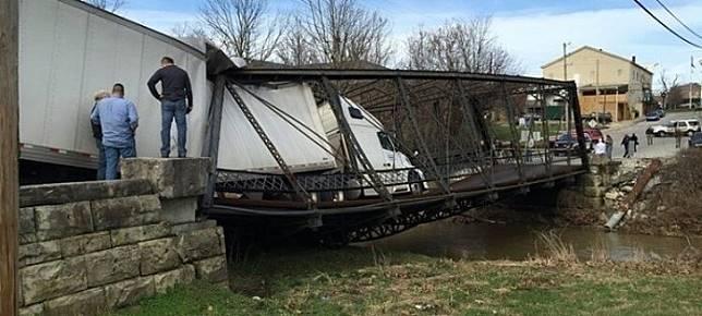 Mungkin karena jembatannya terlalu sempit dan rapuh, makanya bisa kaya gini.