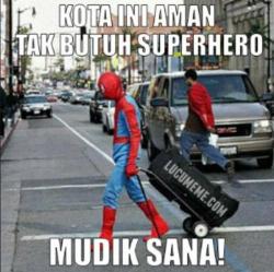 7 Meme Parodi Kocak Seandainya Superhero Ikutan Mudik