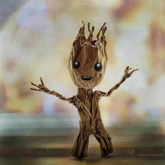 Tampang Groot ketika masih bayi unyu juga ya Pulsker.