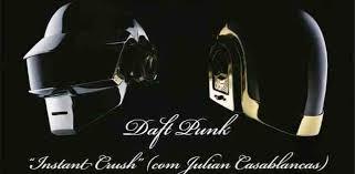 Instant Crush - Duft Punk feat Julan Casablancas Lagu ini bercerita tentang kamu yang suka dengan orang lain, tapi banyak hal yang ngehalangin, dan kamu nggak bisa ngapa - ngapain.