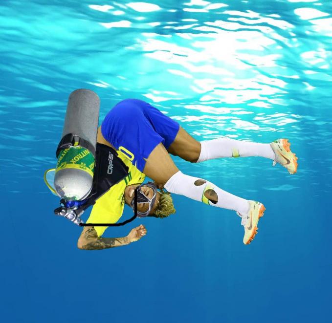 Kalau ini sih diving dalam arti Bahasa Inggris sebenarnya, yakni menyelam Pulsker.