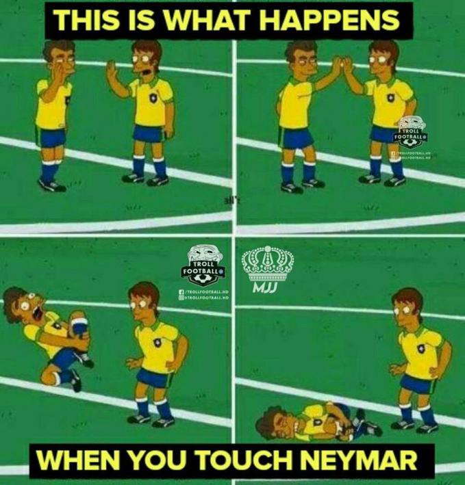 Jangan sesekali sentuh Neymar, sekali sentuh dia bakal melakukan aksi-aksi lain yang mengundang perhatian.