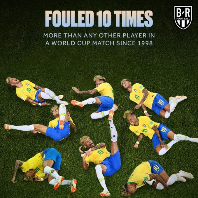 Bahkan aksi Neymar tercatat sudah hampir 10 kali lho melakukan diving.
