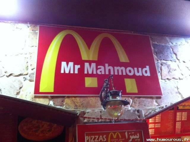 Mc.Donald berubah nama ketika liburan ke Arab.