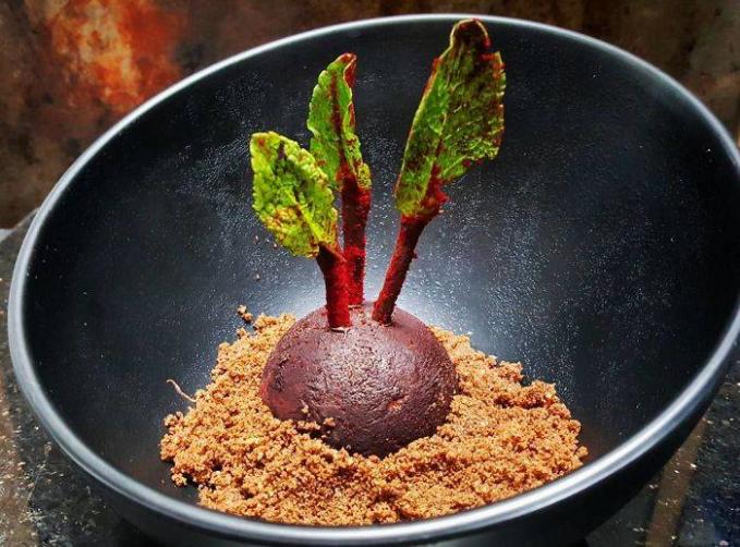Sekilas memang seperti tanaman dengan tanah sob, tapi bisa dimakan kok hanya bentuknya aja yang aneh.