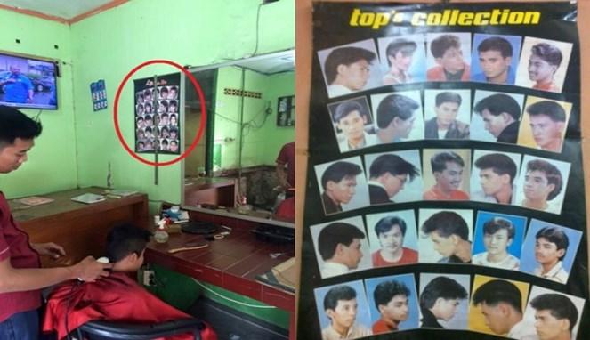 Pernahkah kalian dulu mencukur rambut dengan gaya seperti model di gambar tersebut?