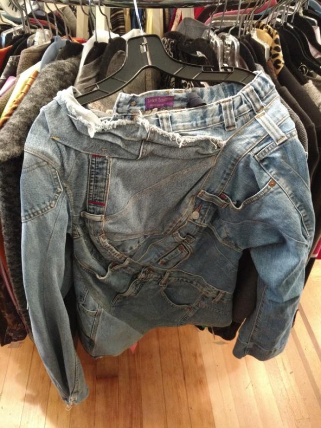 Coba tebak, ini celana atau jaket jeans?