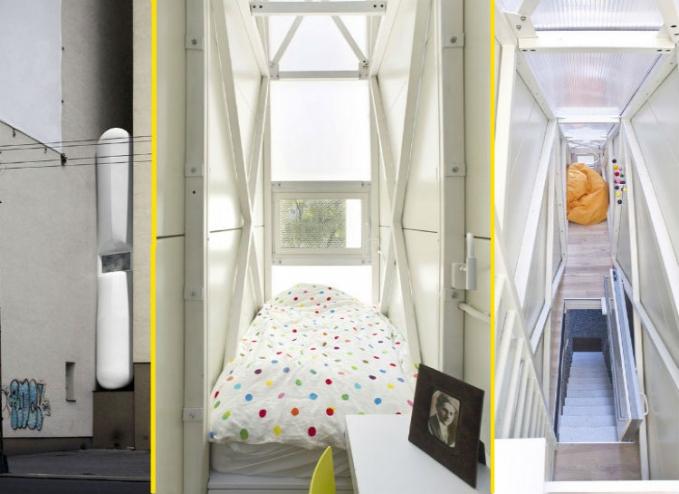 Rumah Ramping Rumah ini hanya mempunyai lebar 120 cm. Hanya cukup untuk 1 tempat tidur saja. Bisa disewa di AirBnB dengan harga 1 Euro atau kurang lebih 15 ribu per malam.