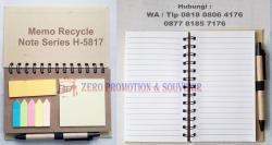Keren abiszz Souvenir Memo Recycle Note Series H-5817