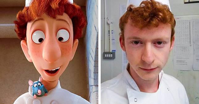 Sama-sama chef. Yang satu dalam kartun dan satunya lagi dalam dunia nyata.