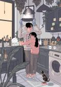 Bikin Baper, 7 Ilustrasi Tentang Romantisnya Mengerjakan Pekerjaan Rumah Dengan Pasangan