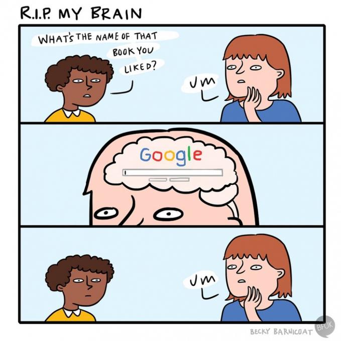 Saking canggihnya teknologi, rasanya otak kita udah nggak terpakai lagi karena semua sudah dipikirkan oleh Google.