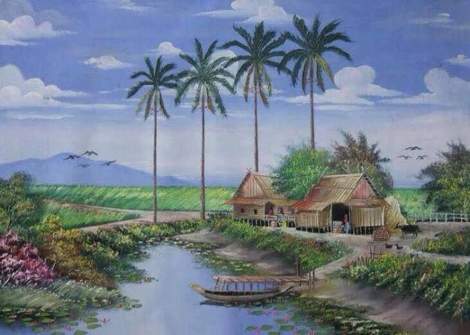 Ditambah dengan perahu, pohon kelapa pemandangan jadi seperti tambah lengkap meskipun mungkin kalau siang agak panas ya..