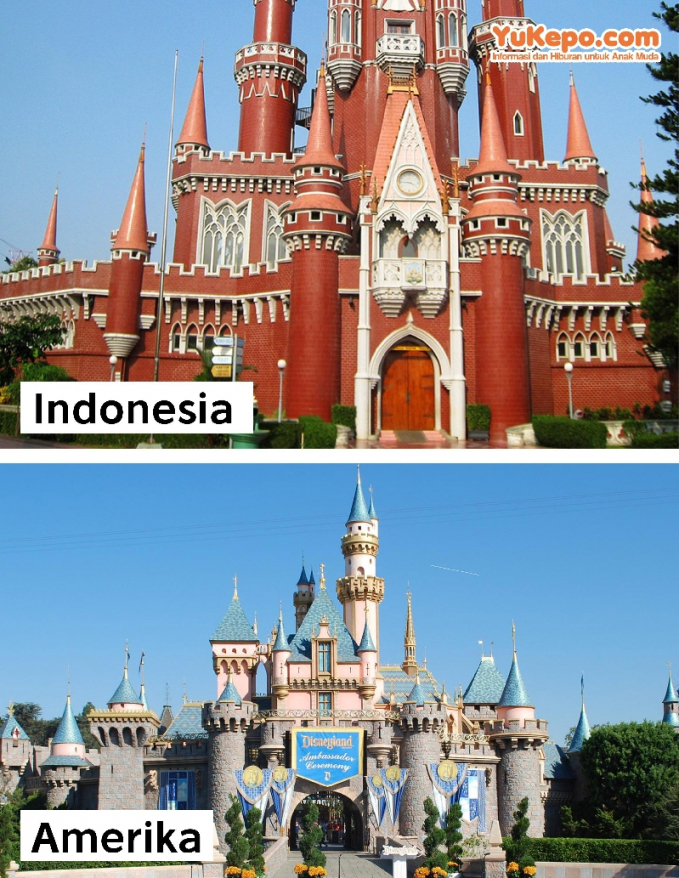 Istana Boneka TMII Vs Disneyland Castle, Amerika Serikat