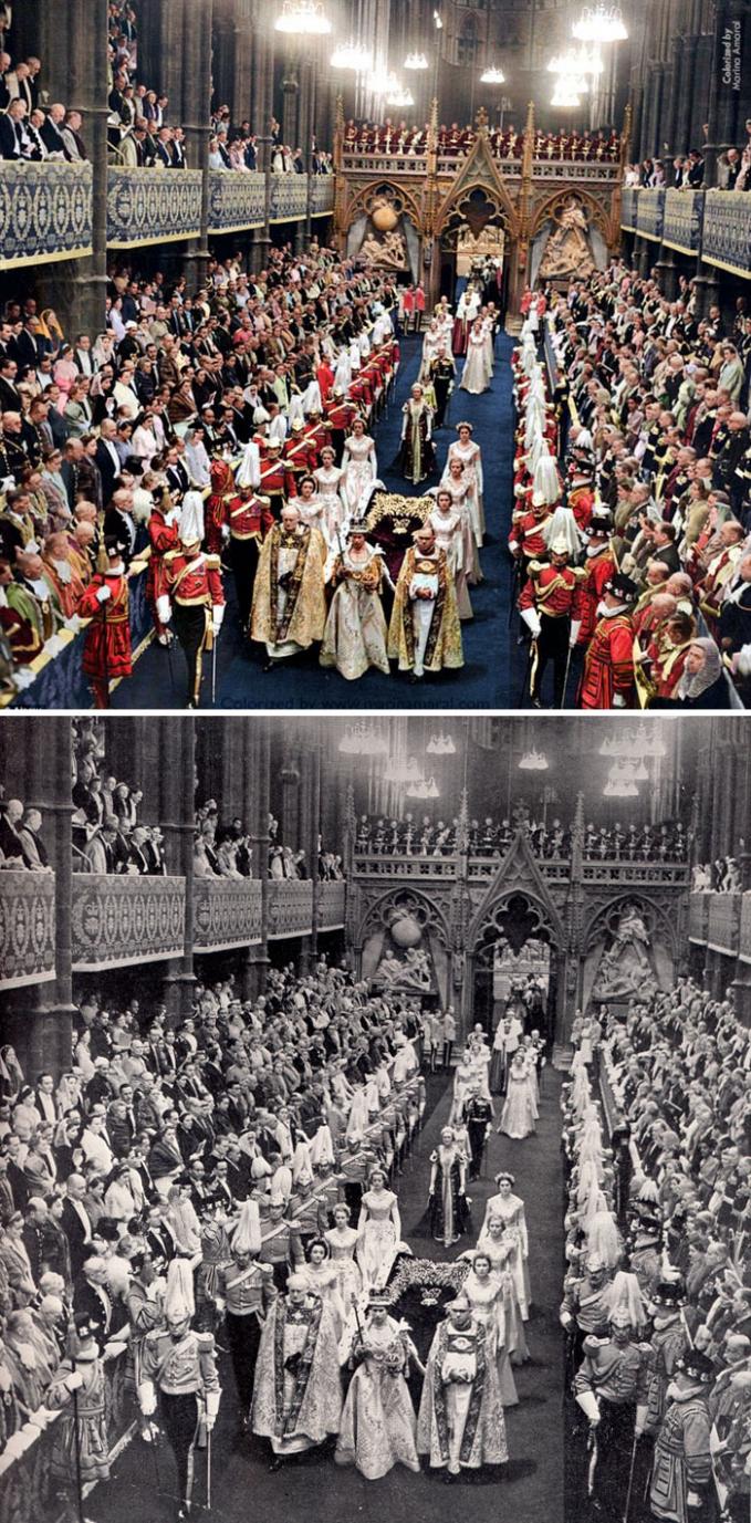 Penobatan Ratu Inggris Elizabeth II pada tanggal 2 Juni 1953 silam.
