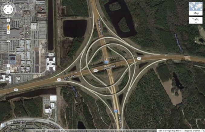 Sadarkah kamu jika foto berbentuk indah ini adalah sebuah jalan layang yang ada di peta?