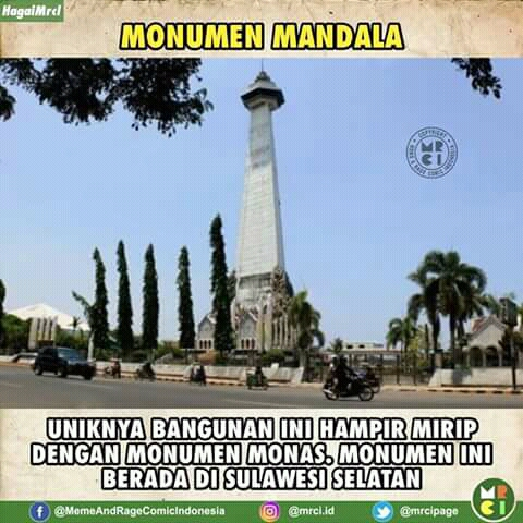 Nah, sementara kalau kamu mau ke Sulawesi Selatan jangan lupa mampir ke monumen Mandala. Emang sih sekilas bentuknya mirip sama Monas, namun monumen ini punya kisah sejarah dibalik pendiriannya.