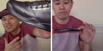 Nggak bisa beli sepatunya pakai gambarnya terus digunting jadi foto keren gini sob.