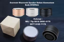 Keren banget!! Jual Souvenir Bluetooth Speaker Bahan Alumunium Kode BTSPK06