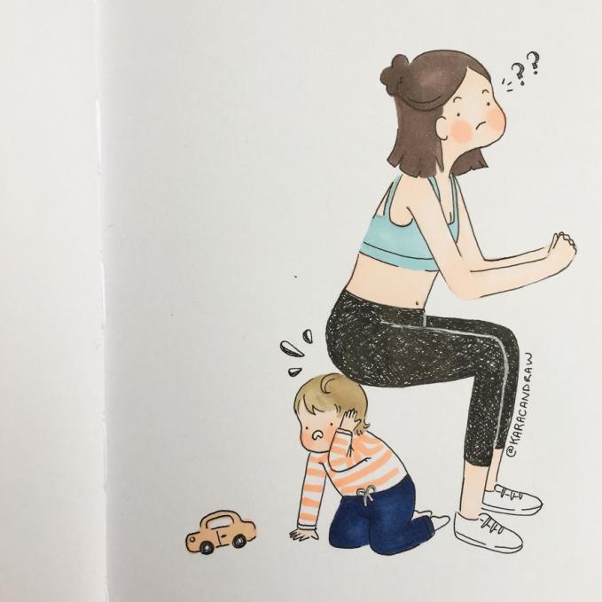 Dan disela-sela waktu bermain bersama dia harus menyempatkan diri untuk berolahraga walaupun ringan.