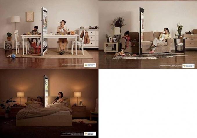 Gadget kini seolah menjadi tembok penghalang dalam kehidupan rumah tangga yang penuh cinta.