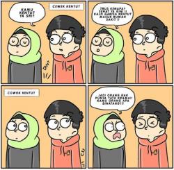 Komik Strip yang Menggambarkan Perbedaan Cowok dengan Cewek