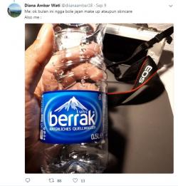 Cuitan Kocak Imajinasi Netizen tentang Air Mineral Bermerk Unik Ini