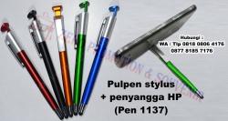 WOW Keren!! Jual Souvenir pulpen stylus dan penyangga HP (Pen 1137)