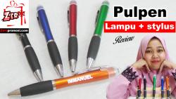 Video review Souvenir Pulpen lampu + stylus