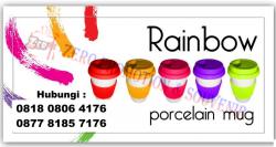 Keren!! Mug Promosi Rainbow Cetak Padprint harga Termurah