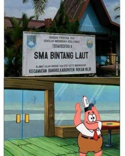 Deretan Meme Kocak Seandainya Spongebob dan Warga Bikini Bottom Sekolah di Indonesia