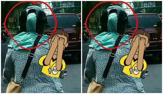 Emak-emak memang selalu benar, kalau helm dilubangin kayak gini mau apa coba?