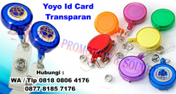 Wow keren!! Jual Yoyo Id Card Transparan - Yoyo Transparant