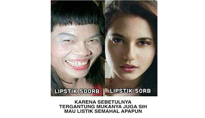 Yang membuat diri seseorang makin cantik dan menarik bukan karena mahalnya harga make up namun, dari dalam diri sendirinya juga.